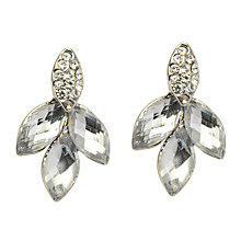 Buy John Lewis 4 Petals Stud Earring, Silver Online at johnlewis.com