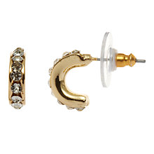 Buy John Lewis Diamanté Hoop Earrings, Gold Online at johnlewis.com
