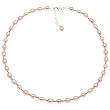Buy Lido Pearls Rice Freshwater Pearl Necklace, Pink Online at johnlewis.com