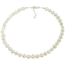 Buy Lido Pearls Single Strand Baroque Necklace, White Online at johnlewis.com