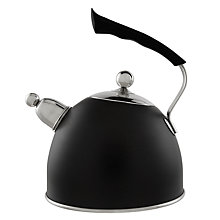Buy John Lewis Stovetop Whistling Kettle, Black Online at johnlewis.com