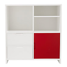 Buy House by John Lewis Oxford 2 x 2 Unit with Shelf, 2 Drawers and Cupboard Door Set, White / Red Online at johnlewis.com