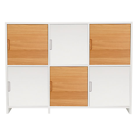 Buy House by John Lewis Oxford 3 x 2 Unit with 6 Cupboard Doors, White/ Oak Online at johnlewis.com