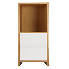 Buy House by John Lewis Oxford 1 x 2 Unit with 2 Drawers, Oak/ White Online at johnlewis.com