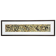 Buy Jackson Pollock - Number 10 Framed Print, 32 x 110cm Online at johnlewis.com