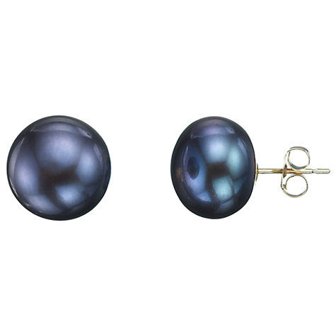 Buy A B Davis 9ct White Gold Bouton Pearl Stud Earrings Online at johnlewis.com