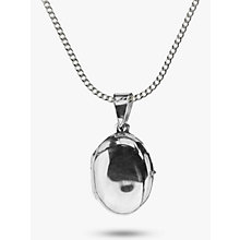Buy Nina Breddal Small Sterling Silver Oval Locket Pendant Necklace Online at johnlewis.com