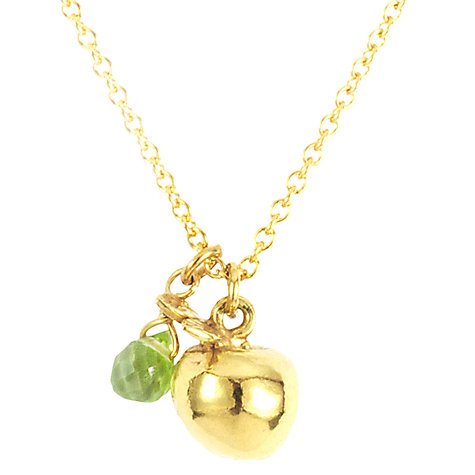 Buy Alex Monroe Apple Green Peridot Pendant Necklace, Green/Gold Online at johnlewis.com