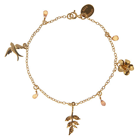 Buy Alex Monroe Baby Pink Tourmaline Bracelet, Gold Online at johnlewis.com
