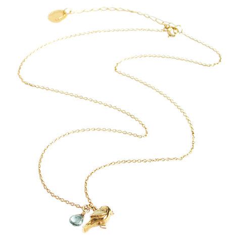 Buy Alex Monroe Warbler Bird Pendant Necklace, Gold Online at johnlewis.com