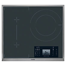 Buy AEG HK683320XG MaxiSight Induction Hob, Black Online at johnlewis.com