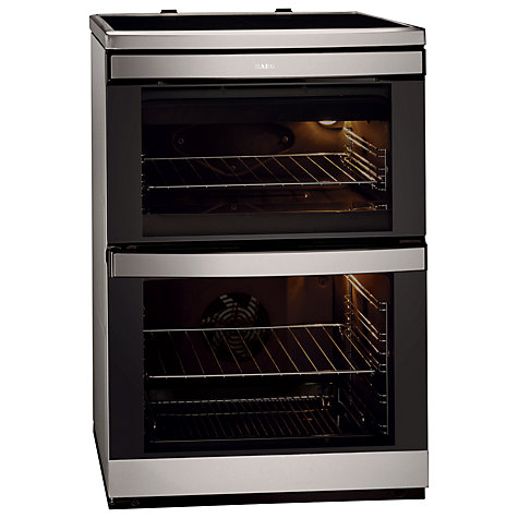 Buy AEG 49332i-MN Electric Cooker, Stainless Steel Online at johnlewis.com