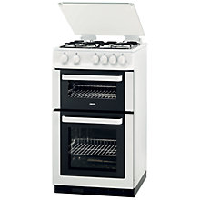 Buy Zanussi ZCG563FW Gas Cooker, White Online at johnlewis.com