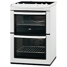 Buy Zanussi ZCV661MWC Electric Cooker, White Online at johnlewis.com