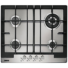 Buy Zanussi ZGG66424XA Gas Hob, Stainless Steel Online at johnlewis.com