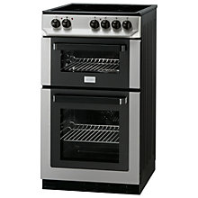 Buy Zanussi ZCV561DX Electric Cooker, Stainless Steel Online at johnlewis.com