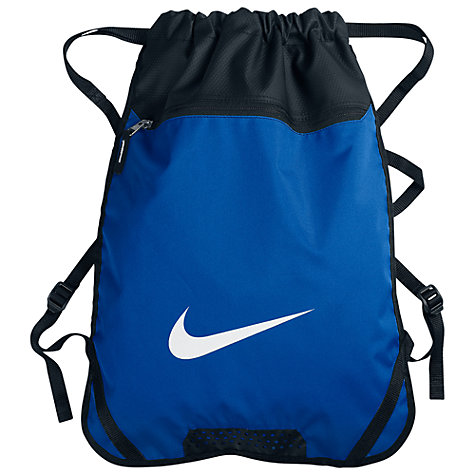 Buy Nike Team Training Gymsack, Blue/Black Online at johnlewis.com