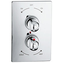 Buy Abode Euphoria Concealed Shower Mixer Panel, H68mm Online at johnlewis.com