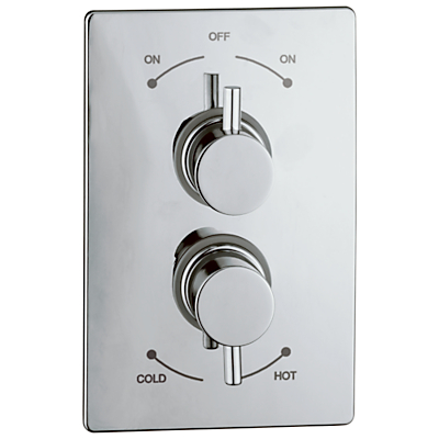 Abode Harmonie Concealed Shower Mixer Panel, H57mm