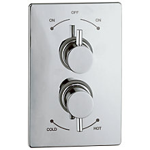 Buy Abode Harmonie Concealed Shower Mixer Panel, H57mm Online at johnlewis.com