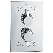 Buy Abode Euphoria Concealed Plate Mounted Thermostatic Shower Mixer, H70mm, Harmonie Online at johnlewis.com