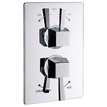 Buy Abode Euphoria Concealed Thermostatic 2 Exit Shower Mixer, H52mm, Decadence Online at johnlewis.com