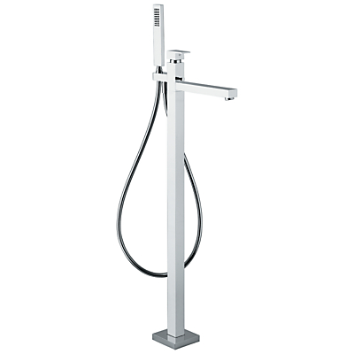 Abode Fervour Floor Standing Bath Filler with Shower