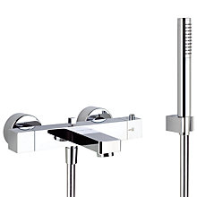 Buy Abode Fervour Thermostatic Wall Mounted Bath Shower Mixer with Handspray Online at johnlewis.com
