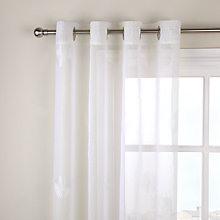 Buy John Lewis Daisy Voile Slot Headed Panel, White, W150 x Drop230cm Online at johnlewis.com