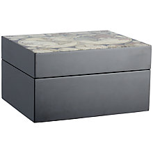 Buy John Lewis Antique World Map Postcard Box, Black Online at johnlewis.com