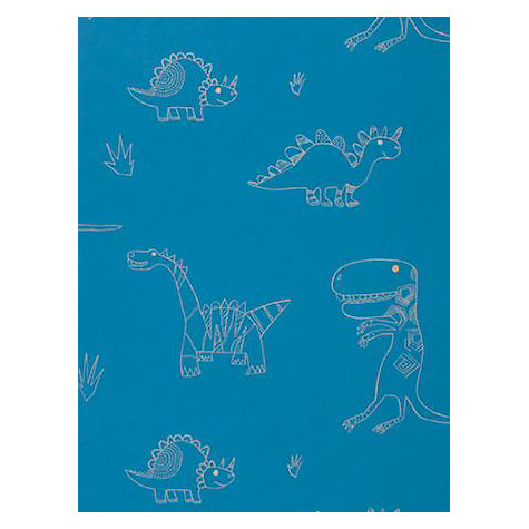 Buy Harlequin Jolly Jurassic Children's Wallpaper, 70527, Blue/Gold Online at johnlewis.com