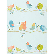 Buy Harlequin What A Hoot Children's Wallpaper, 70516, Tangerine Online at johnlewis.com
