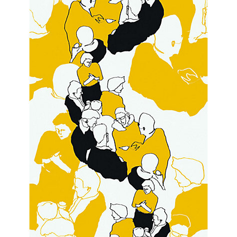 Buy Marimekko Vstavat Wallpaper, Mustard, 13002 Online at johnlewis.com