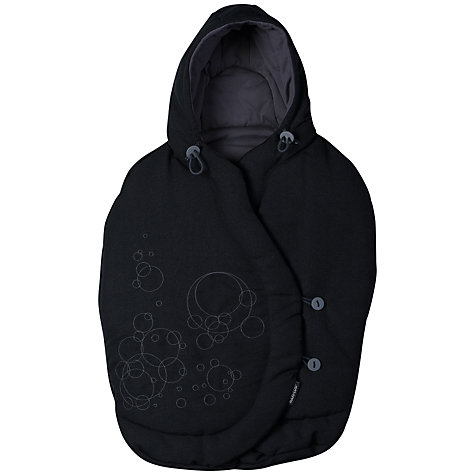 Buy Maxi-Cosi Pebble Car Seat Footmuff, Total Black Online at johnlewis.com