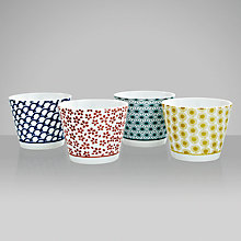 Buy John Lewis Orient Teacups, Set of 4, 0.2L, Multi Online at johnlewis.com