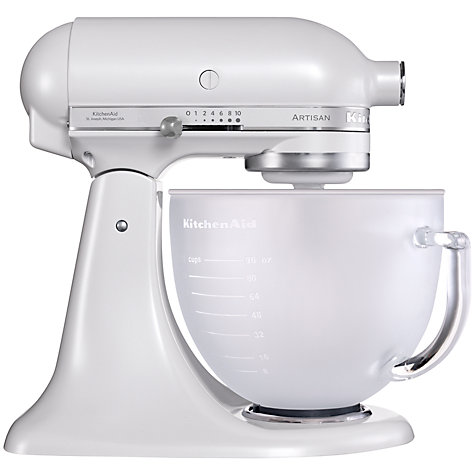 Buy KitchenAid Artisan Stand Mixer, Frosted Pearl Online at johnlewis.com