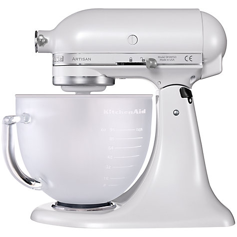 Buy KitchenAid 5KSM156BFP Artisan 4.8L Stand Mixer, Frosted Pearl Online at johnlewis.com