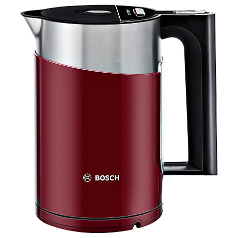 Buy Bosch Styline Sensor TWK86104GB Kettle, Cranberry Online at johnlewis.com