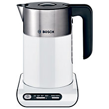 Buy Bosch Styline Kettle and 2-Slice Toaster, White Online at johnlewis.com