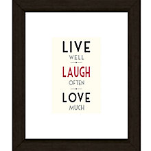 Buy East of India Live Well Framed Print, 27 x 23cm Online at johnlewis.com