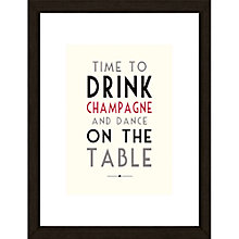 Buy East of India Time To Drink Sign Framed Print, 43 x 33cm Online at johnlewis.com