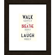 Buy East of India Walk Gently Framed Print, 27 x 23cm Online at johnlewis.com