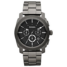 Buy Fossil FS4662 Men's Machine Chronograph Bracelet Strap Watch, Black Online at johnlewis.com