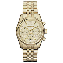 Buy Michael Kors MK5556 Women's Chronograph Bracelet Watch, Gold Online at johnlewis.com