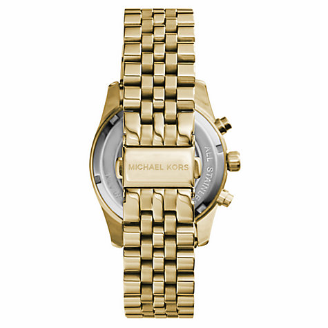 Buy Michael Kors MK5556 Women's Chronograph Bracelet Strap Watch, Gold Online at johnlewis.com