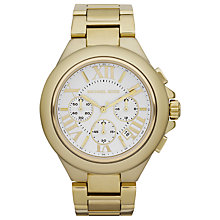 Buy Michael Kors MK5635 Women's Chronograph White Dial Bracelet Watch, Gold Online at johnlewis.com