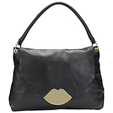 Buy Lulu Guinness Nicola Medium Grab Handbag, Black Online at johnlewis.com
