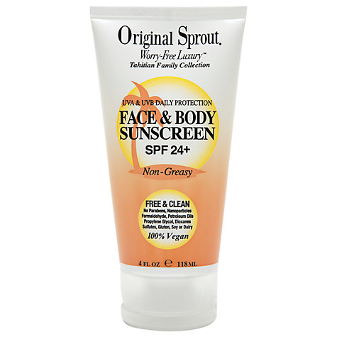 Buy Little Sprout Face & Body Sunscreen SPF 24+, 118ml Online at johnlewis.com