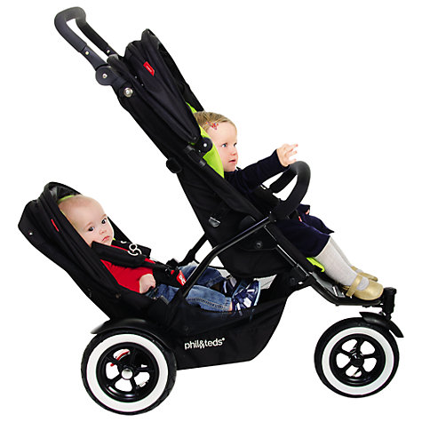Buy Phil & Teds Dot Pushchair Double Kit, Chilli Online at johnlewis.com