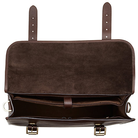 Buy Mulberry Walter Briefcase, Chocolate Natural Leather Online at johnlewis.com